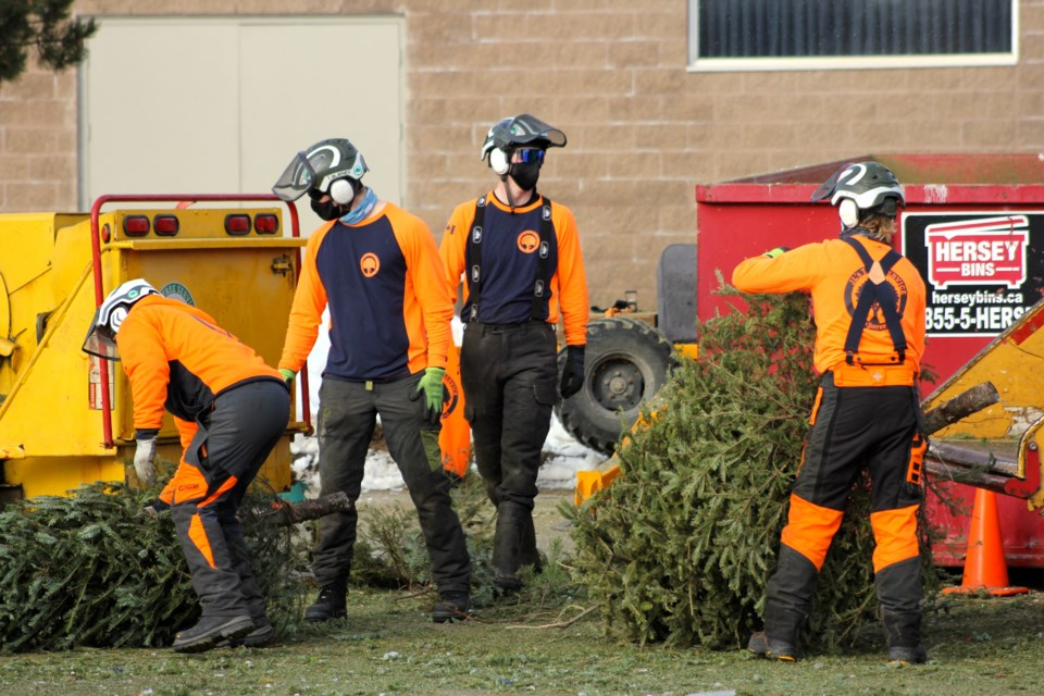 The chippers at Our Lady of Lourdes Catholic High School. Anam Khan/GuelphToday
