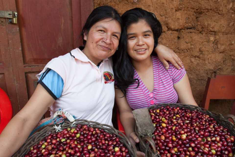 Erlita and Kate represent two generations of woman cultivating coffee for Sister's Story Coffee in Peru.