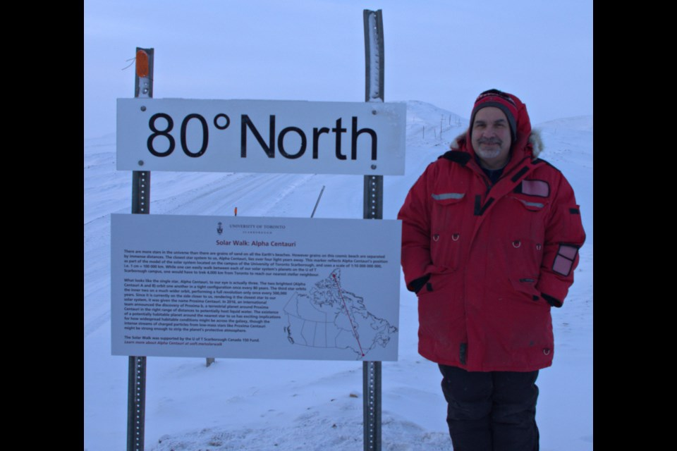 Dr. Pierre Fogal stands at 80 degrees latitude in the Arctic in Ellesmere Island. Supplied photo