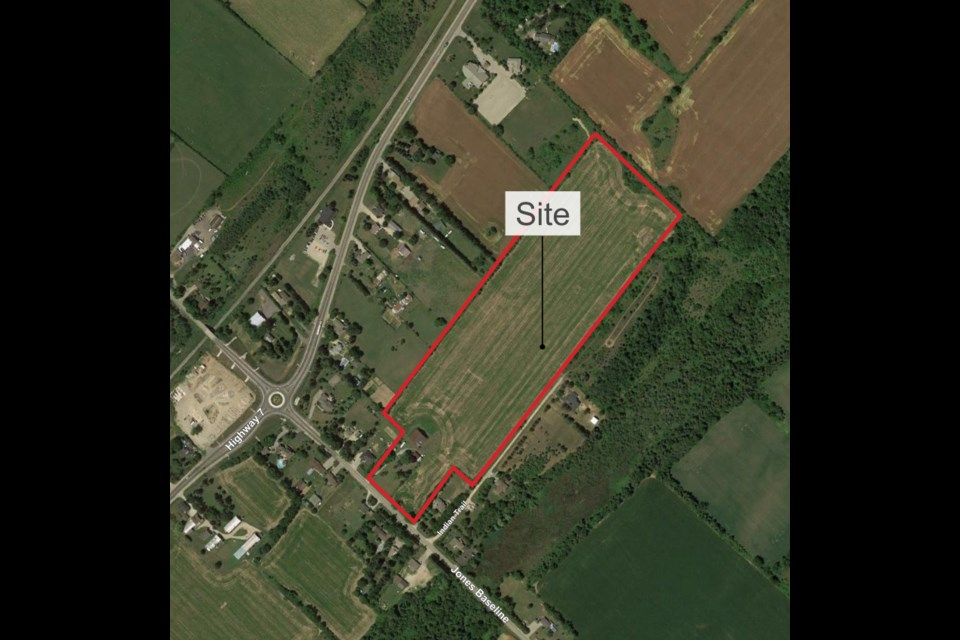 A map shows the proposed site of the new Minus 40 industrial facility.