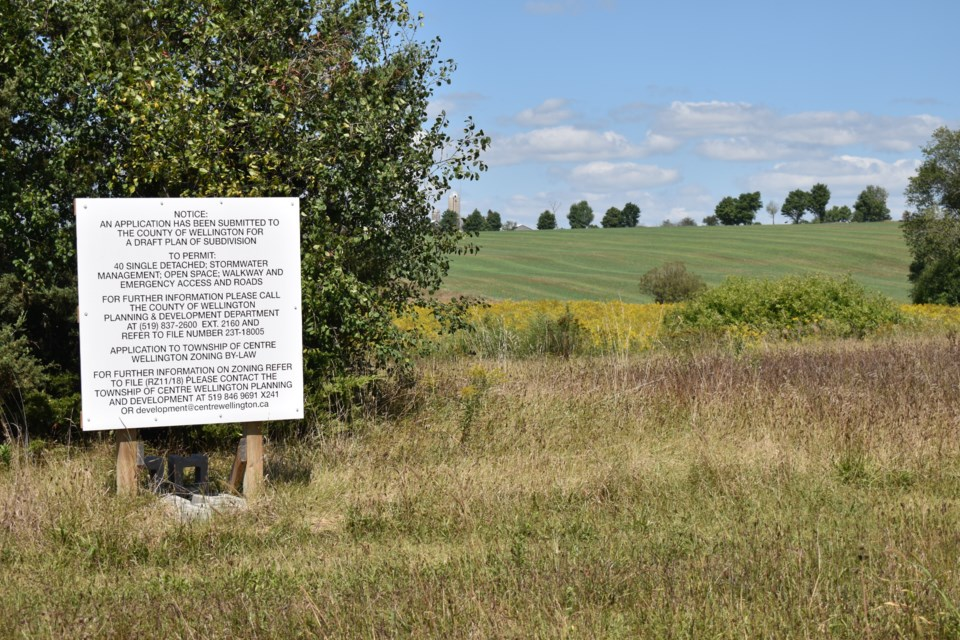 A 40-home subdivision is planned for this land in the Hamlet of Inverhaugh.