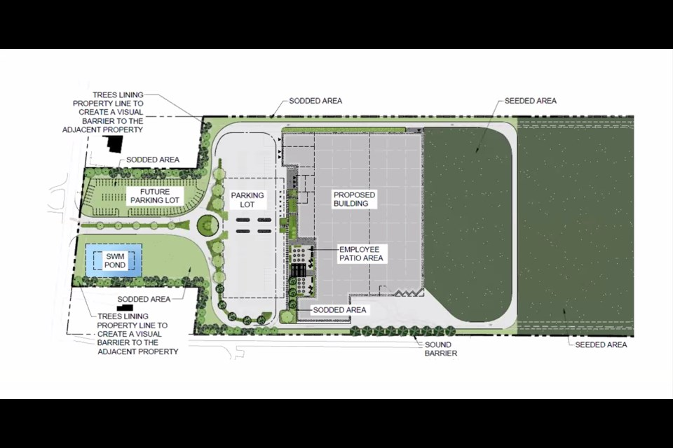 A draft plan shows the proposed facility.