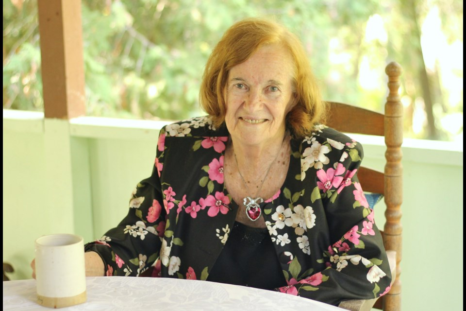 Martha Rogers sits in her home in Elora. Her retirement officially began on Sept. 1.