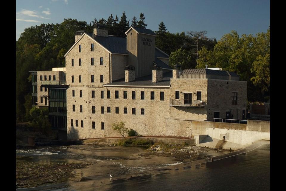 The Elora Mill Hotel & Spa on the Grand River. Photo courtesy of www.centrewellington.ca