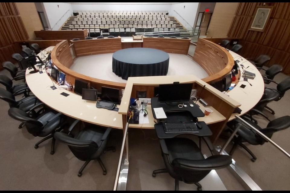 Guelph city council chambers. Richard Vivian/GuelphToday