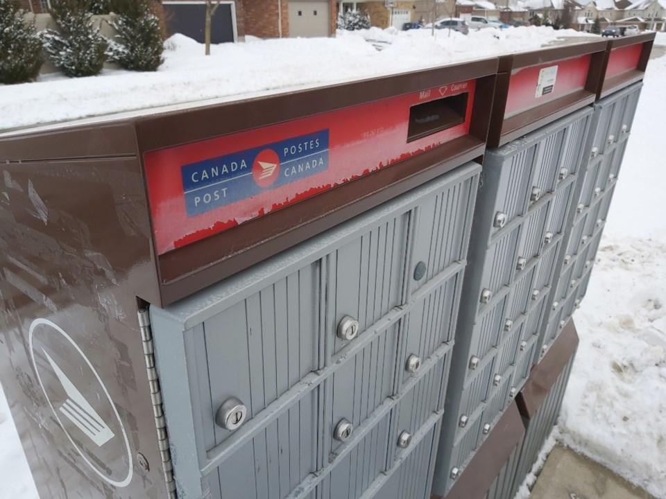 20210217 Canada Post community mailbox RV