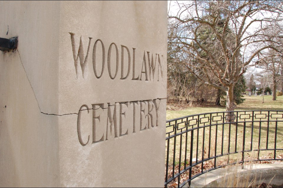 Woodlawn Memorial Park entrance off Woolwich Street. Richard Vivian/GuelphToday