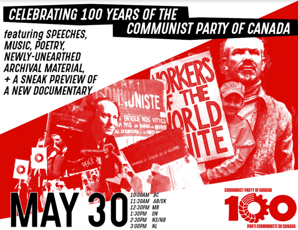20210525 Communist Party of Canada 100th poster
