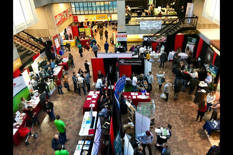 The Guelph Organics Conference trade show Saturday, Jan. 27, 2018, at the University of Guelph. Barb McKechnie for GuelphToday