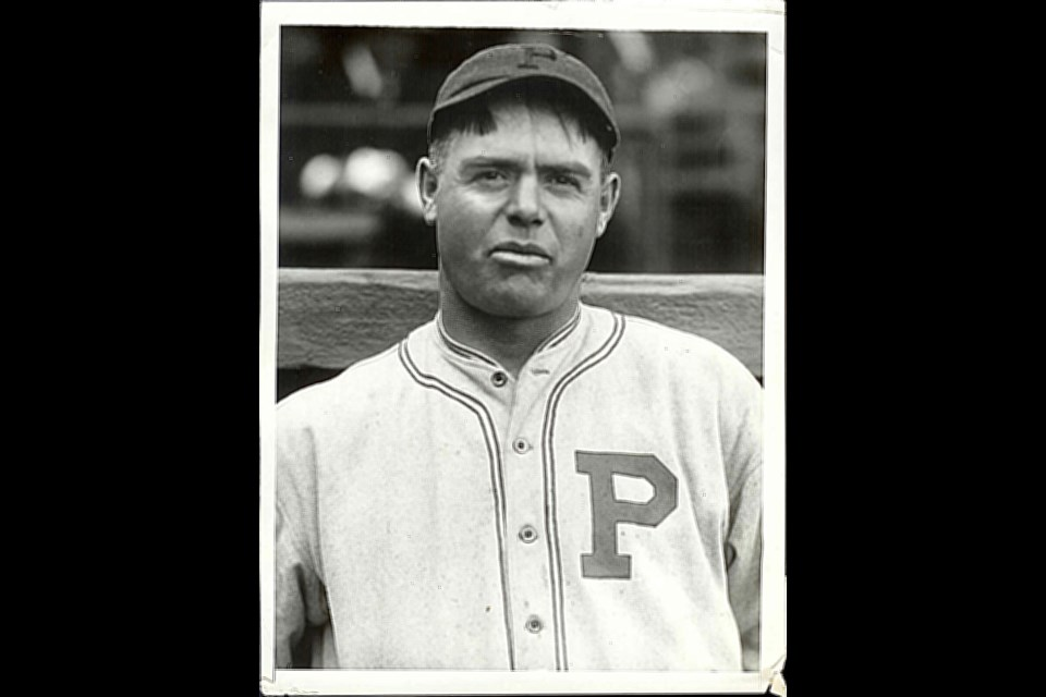 George 'Mooney' Gibson in 1921 as a member of the Pittsburgh Pirates.