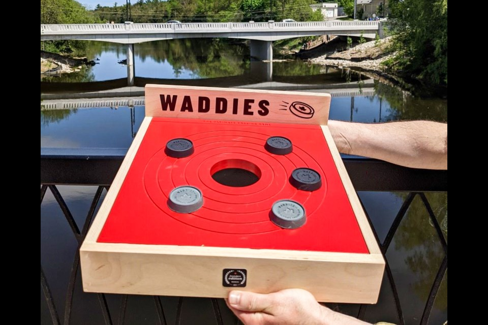 A Waddies board with rubber disks, designed and produced by BortCo. Supplied photo