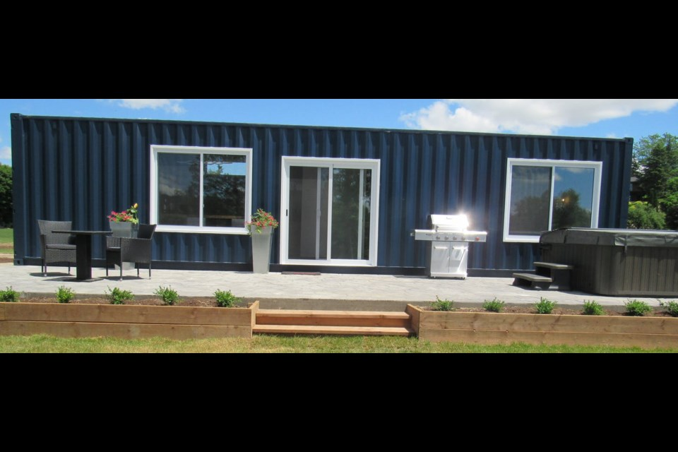 Inner Joy Getaways just outside Elora has turned shipping containers into luxurious accommodations.