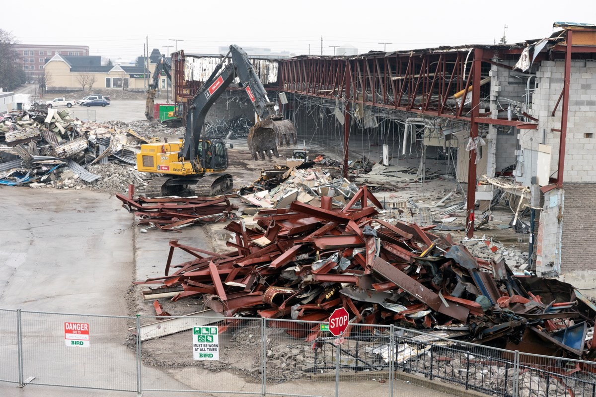 Guelph Auto Mall >> Demolition begins at former Sears store in Stone Road Mall ...
