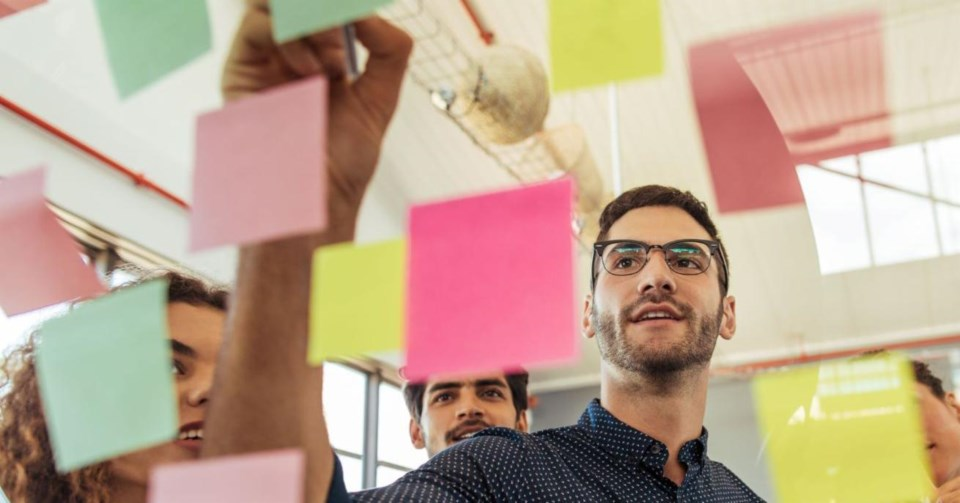 Post it notes on board iStock-999825310 web social