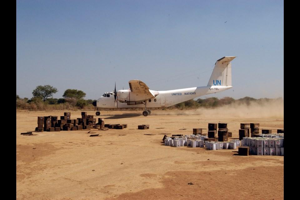 Supply drop off, Sudan. Photo courtesy of Philip Maher