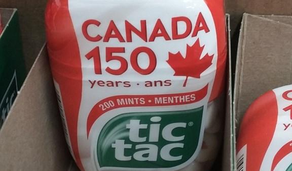 Canada 150 tic tacs