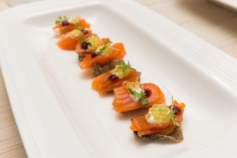 Arctic char appetizers. Photo courtesy of Vijay Nair