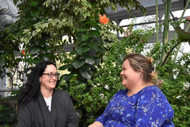 Hannah Neufeld Tait (left) and Adrianne Lickers Xaviers, main participants in the Indigenous food project