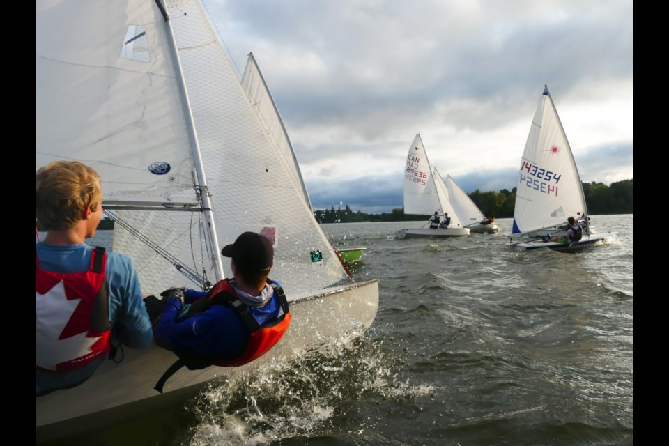 Members of the Guelph Community Sailing Club on Guelph Lake. Maxine Betteridge-Moes for GuelphToday