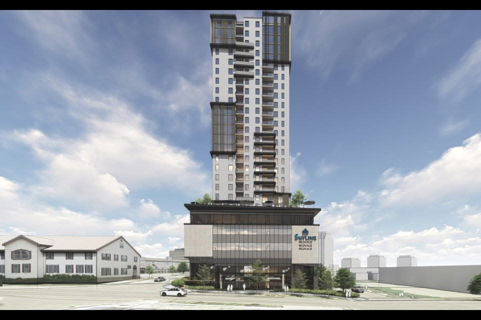 Rendering of a proposed 25-storey building for 70 Fountain St. Supplied photo