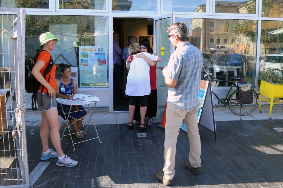 People outside an open house for the 10C building at 42 Carden Street on Friday. Kenneth Armstrong/GuelphToday