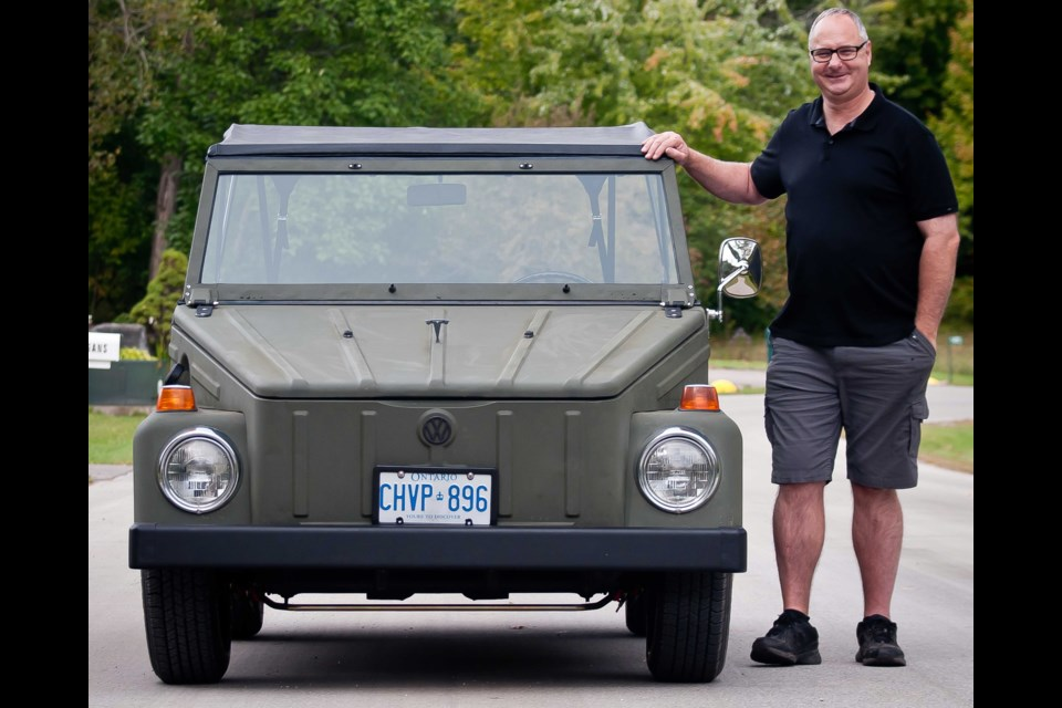 Tom Lammer and his electrified Volkswagen Thing. Supplied photo