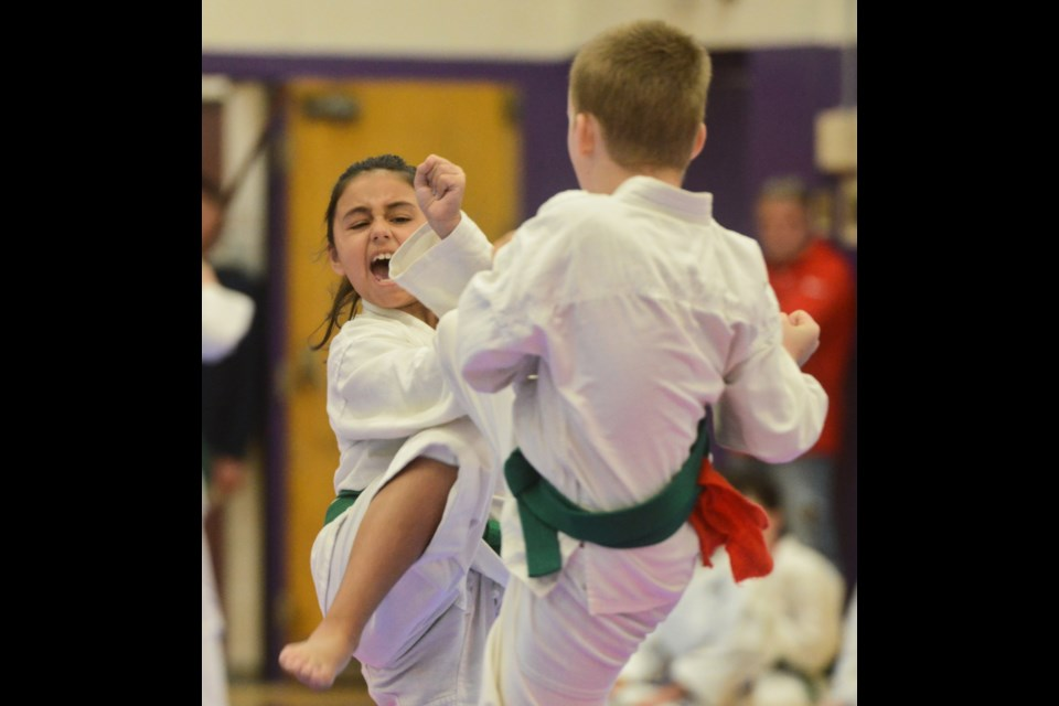 About 175 competitors, from age 4 to adult, competed in the 2019 Guelph Open Karate Tournament on Saturday at Centennial CVI. Tony Saxon/GuelphToday