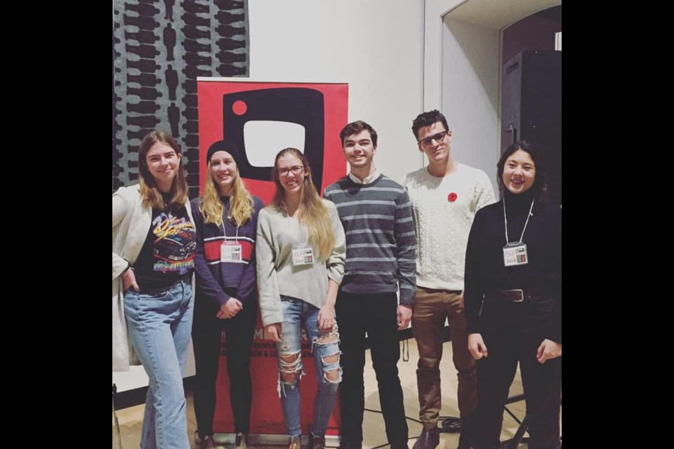 Da Vinci program Youth Filmmakers after their post-screening talk. Photo credit, Guleph Film Festival