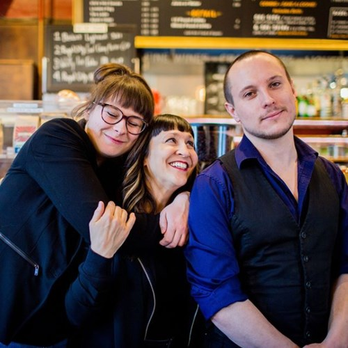 Alanna Dakin, Bella Krieger, Aron Murch in Red Brick Cafe. Photo By Britney Townsend Photography
