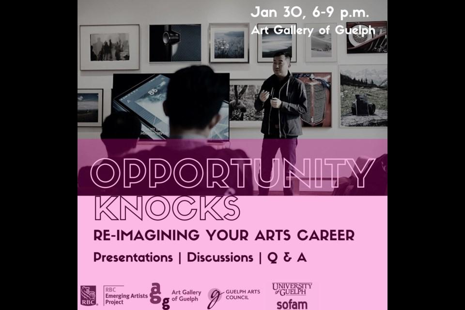 Opportunity Knocks Re-Imagining your Arts Career_Workshop Poster