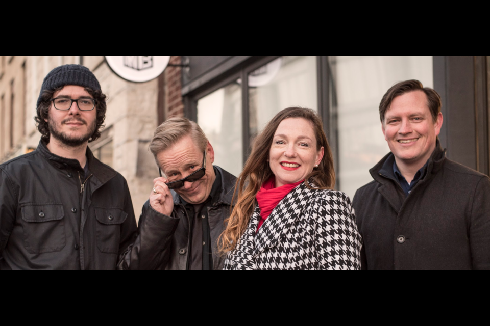 Founders of Downtown Theatre Project. Left to right. Tim Clarke, Trevor Smith Diggins, Jen Barson, Paul Barson