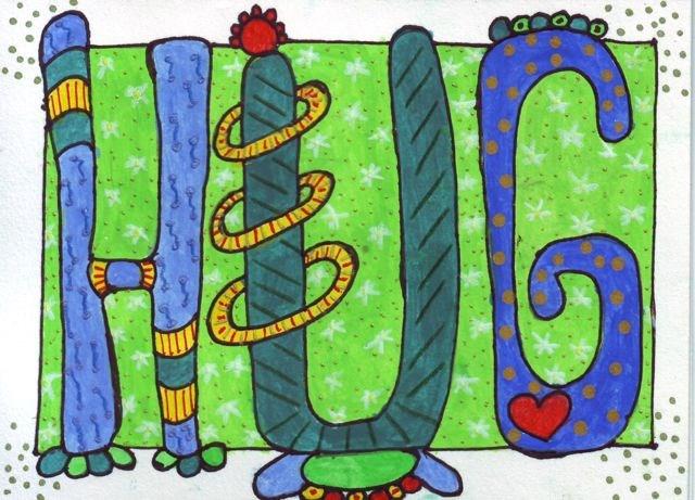Hug. Artwork by Sue Richards