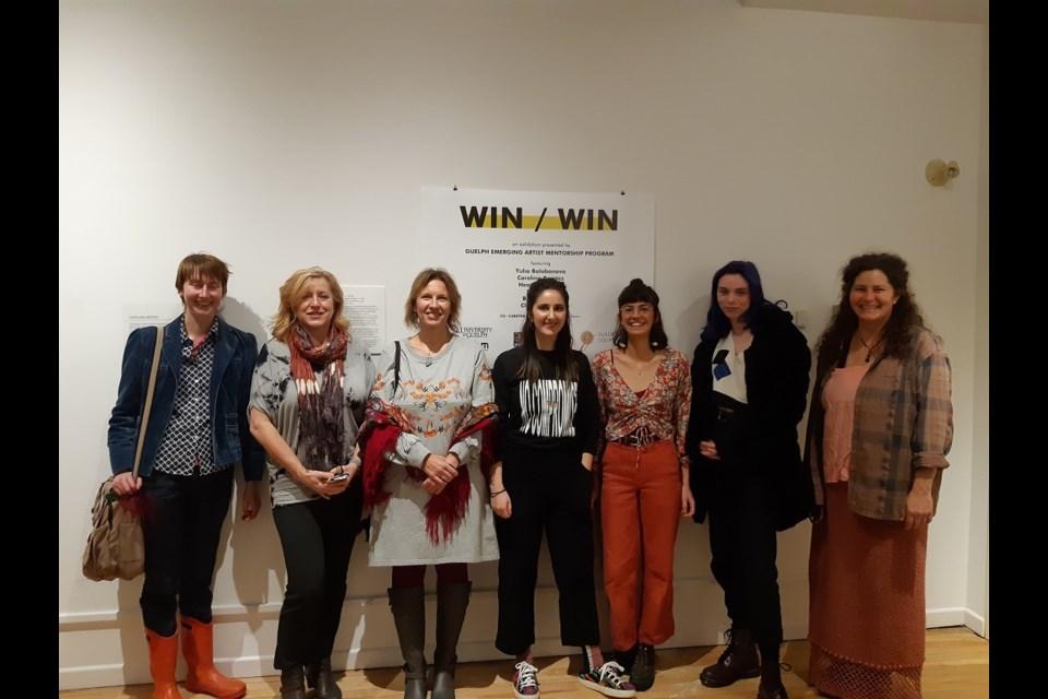 From left to right. Evangeline Mann, Heather Caruso, Yulia Balobanova, Elly Grant, Carolina Benitez, Claire Stewart, and Bree Leggett
