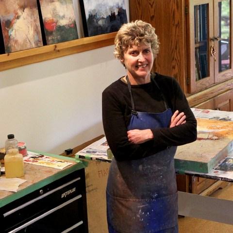 Oxanna Adams, GAC member in her studio. Photo credit Oxanna Adams