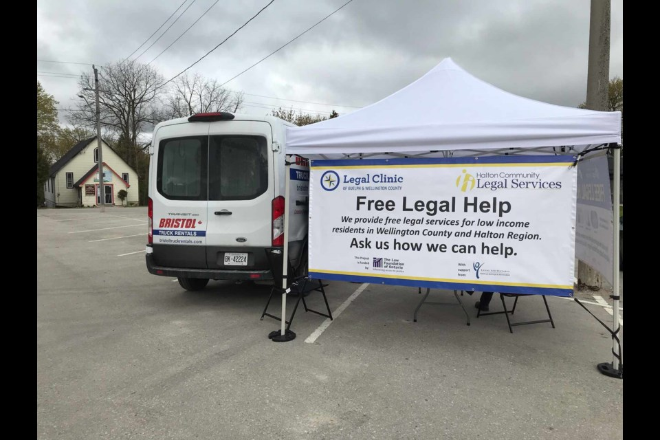 Law Van of Legal Clinic of Guelph and Wellington County. Twitter photo.