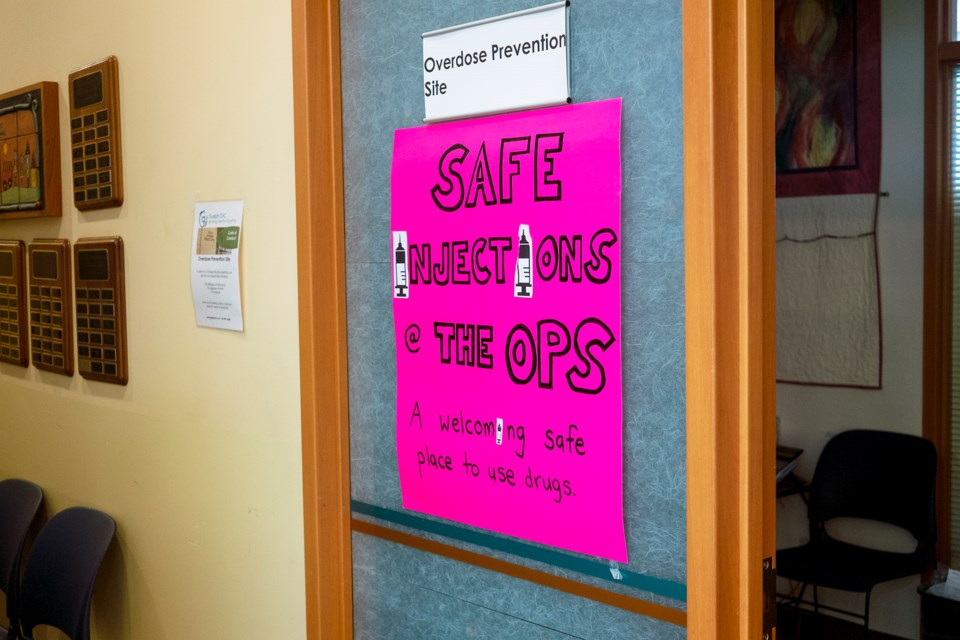 Outer door to the Overdose Prevention Site at Guelph Community Health Centre. Kenneth Armstrong/GuelphToday