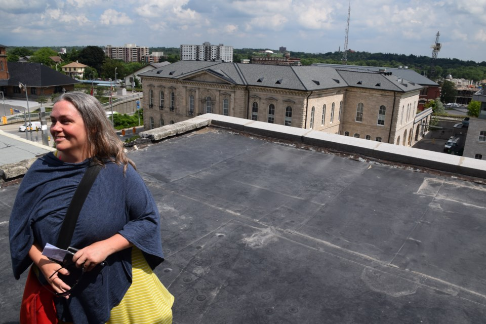 Julia Grady, co-founder and executive director of 10 Carden, on the roof of 42 Carden, the community hub's new home. Rob O'Flanagan/GuelphToday