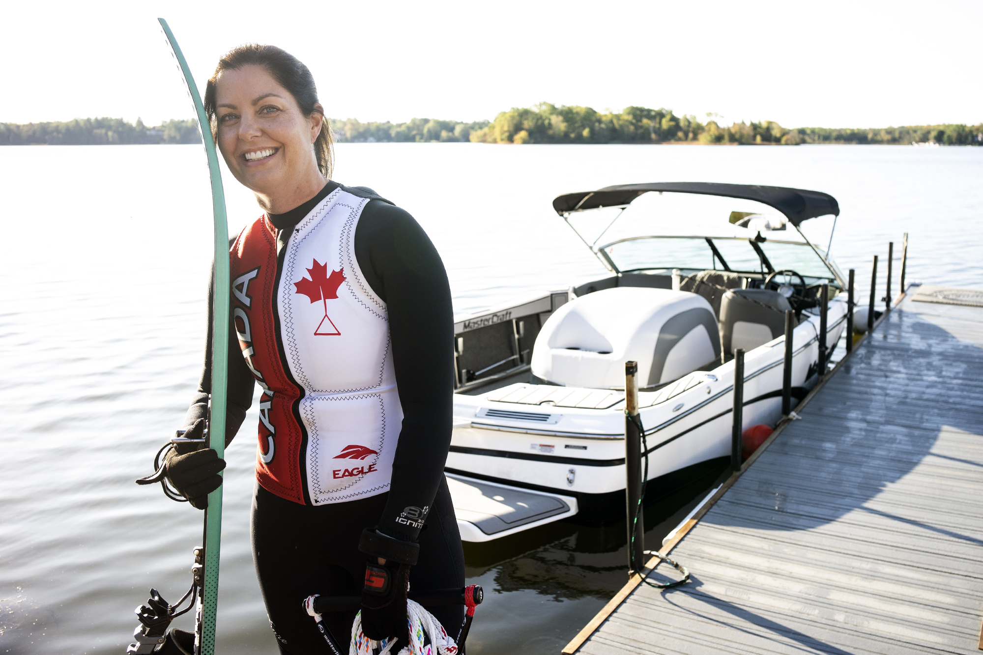 Wendy Durigon to represent Canada at waterskiing championship in Peru (4 photos)