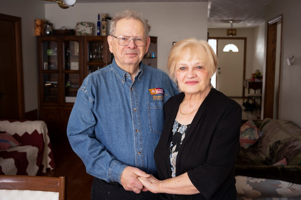 Alex and Helen Maciag seen in their home on Monday. The couple recently retired after owning and operating the Campus Home Hardware for more than 40 years. Kenneth Armstrong/GuelphToday