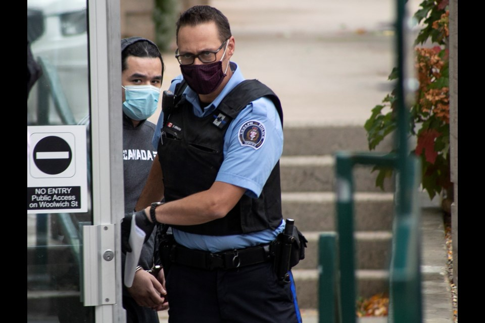 Jordan Langelier leaves the Ontario Court of Justice in Guelph on Wednesday after being found not criminally responsible in the murder of Mario Ruffolo. Kenneth Armstrong/GuelphToday