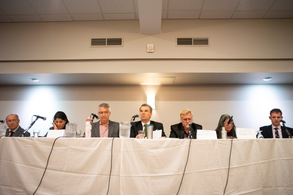 Seven candidates attended Thursday's all-candidates meeting on social justice issues. Kenneth Armstrong/GuelphToday