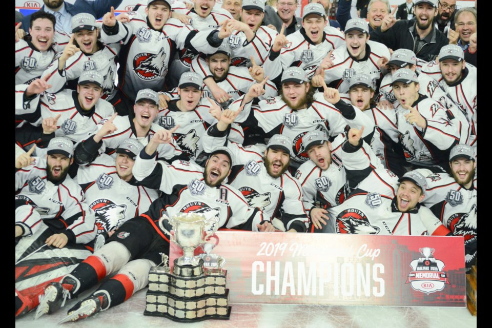 The Rouyn-Noranda Huskies are the 2019 Memorial Cup champions. Tony Saxon/GuelphToday
