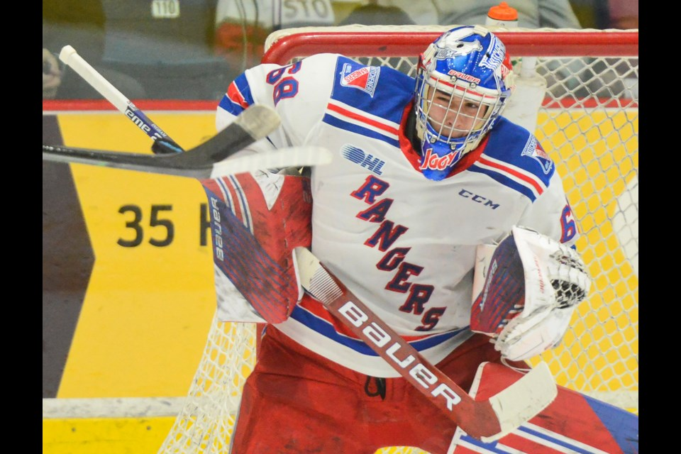 Kitchener Rangers goaltender Jacob Ingham is shown in a file photo from earlier this year. Tony Saxon/GuelphToday