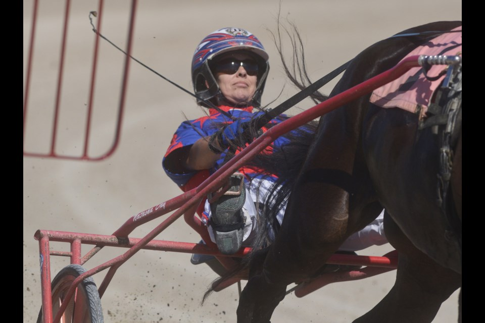 Natasha Day races in a qualifying race at Grand River Raceway recently. Tony Saxon/GuelphToday
