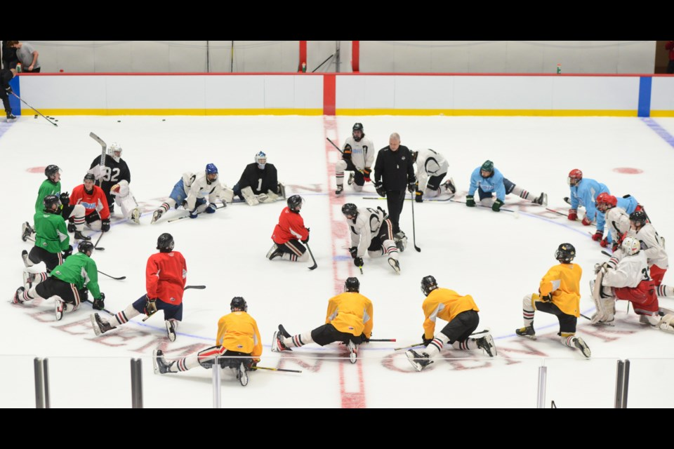 The Guelph Storm officially opened training camp with the first on-ice session Wednesday night.