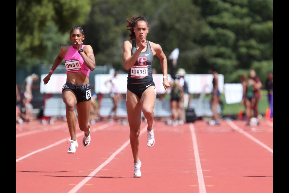 Ashlan Best competes for Stanford. Photo courtesy of Stanford athletics