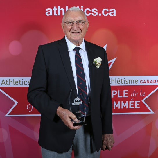 Peter Manning upon being inducted into the Athletics Canada Hall of Fame.