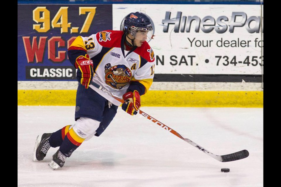 Mike Cazzola of Guelph played five seasons in the Ontario Hockey League from 2007 to 2012, including four and a half with the Erie Otters. Submitted photos