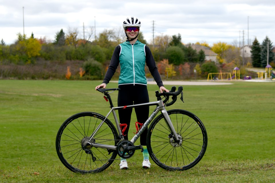 Guelph native Kiara Lylyk completed the Everesting 2020 challenge by climbing a total of more than the height of Mount Everest on her bike. Kiara was on her bike for more than 13 hours to complete the challenge. Rob Massey for GuelphToday
