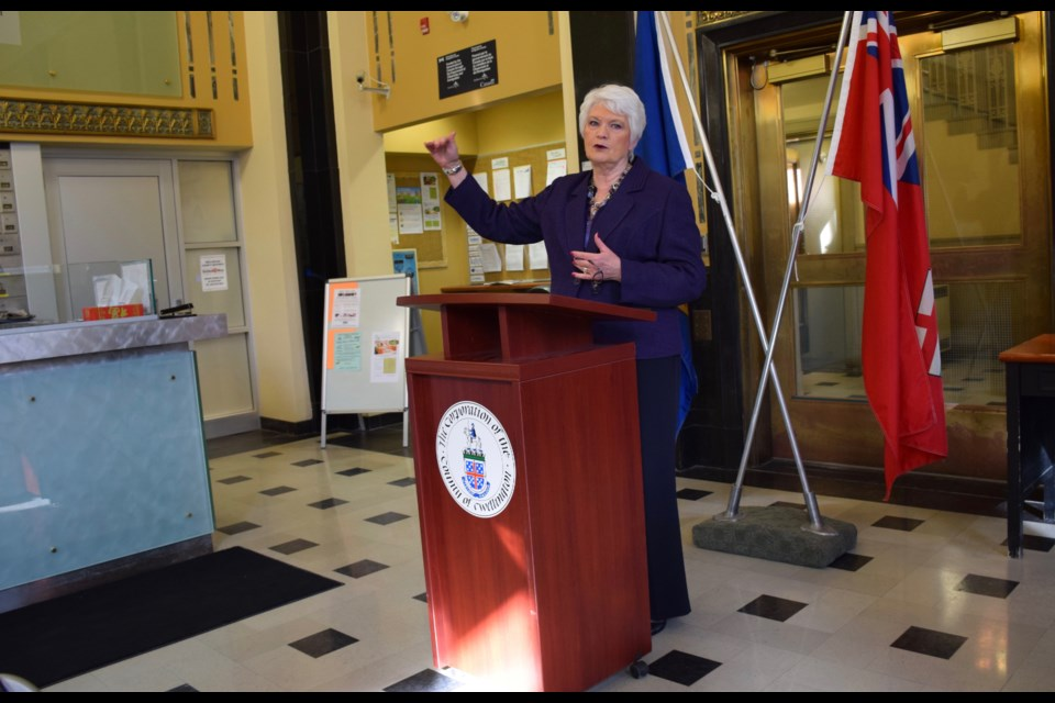 Guelph MPP Liz Sandals announces over $115,200 for social housing retrofit in Wellington County.